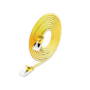 Wirewin Slimpatchkabel Cat 6A, U/FTP, 5m, Gelb