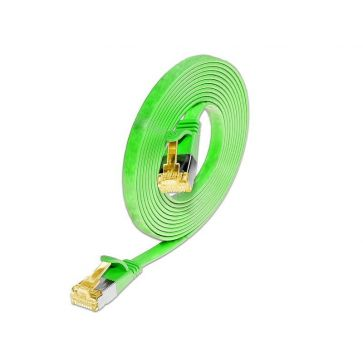 Wirewin Slimpatchkabel Cat 6A, U/FTP, 5m, Grün