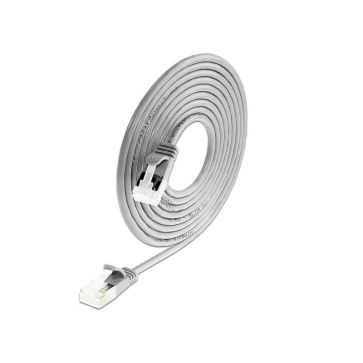 Wirewin Slimpatchkabel Cat 6A, U/FTP, 5m, Grau