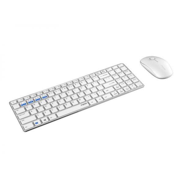 Rapoo Tastatur-Maus-Set 9300M Weiss