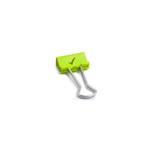 B 19 mm grün Smiley 80 Stück RAPESCO Foldback-Klammern