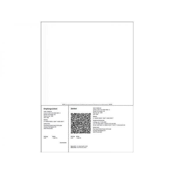Büromaterial Rechnungsformular mit Einzahlungsschein QR Code